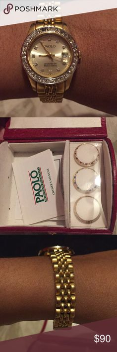 Vintage Paolo Gucci watch Vintage paolo gucci watch/ good condition/slight scratching on band/ face is scratch free Gucci Accessories Watches