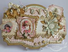 Shabby Chic Winter Christmas gemaakt door Katja Stroo