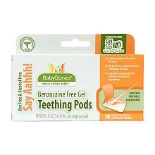BabyGanics Benzocaine Free Gel Teething Pods - 10Pk