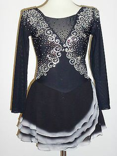 BEAUTIFUL & LOVELY ICE SKATING DRESS, SIZE CUSTOM MADE TO FIT