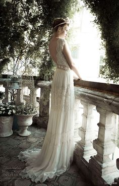 lihi hod bridal spring 2014 ginger lily wedding dress side view