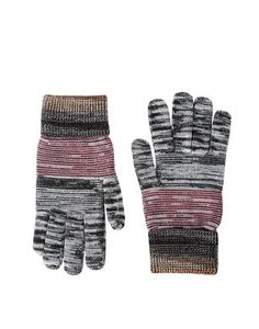 Warm woolen gloves with multicolored slubbing.