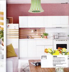 Metallic Tape Love!!!  Sneak Peek at the Upcoming IKEA 2016 Catalog: Stylists' Ideas Worth Stealing