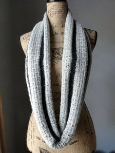 Lace and Cotton Infinity Scarf | AllFreeKnitting.com