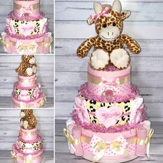 I just adore this Pink and Yellow Giraffe Nappy Cake. This Baby Shower centrepiece includes: Huggies Newborn Nappies Flannelette Wraps Baby Blanket Gentle Face Washers Newborn Mittens Newborn Socks Avent Soother Plush Giraffe Toy Giraffe Toy, Nappy Cakes, Baby Shower Centerpieces, Pink Yellow, Pink Girl, Cake Ideas, Shower Ideas, Girls, Advent