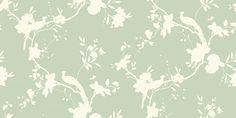 Chinoise Shadow Sage (422808) - Arthouse Wallpapers - A classic, traditional bird of paradise in floral boughs design - shown in the shadow print silhouette without details - available in a range of colours. Shown in the off white on sage green colourway. Please request sample for true colour match.