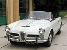 1959 Alfa Romeo 2000 Spider in original white paint with original red leather throughout. SOLD