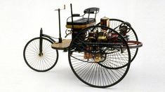 The first car (c. 1769-1885) Historians consider Karl Benz's 1885 Motorwagen the first first commercially viable car.Many people think the 1908 Ford Model T was the first automobile ever built, but it was merely the first mass-produced, affordable one (and some historians even bestow that title on a 1901 Olds).