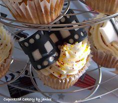 Movie film fondant on cupcakes :)