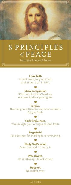 This Easter, honor the Prince of Peace by focusing on the principles of peace he taught. #Easter #LDS #PRINCEofPEACE