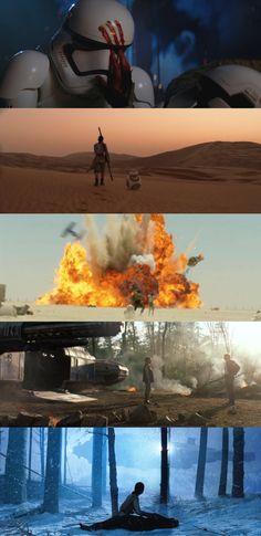 Star Wars: The Force Awakens / Favorite Shots (2015), d. J.J. Abrams, d.p. Dan Mindel