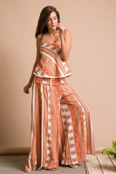 Palazzo Style Lotus Pants with Stretchable Waist