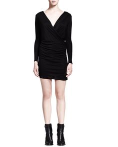 Ruched Jersey Overlap Dress by HELMUT Helmut Lang at Neiman Marcus.