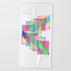 Stained Glass Beach Towel by beebeedeigner Glass Beach, Beach Towel, Summer Beach, Stained Glass, Summertime, Seasons, Contemporary, Artist, Design