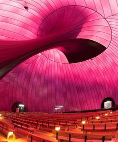 Salle de concert gonflable pour un festival de Lucerne