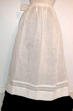 vintage white aprons, white lace and linens, infant slips & christening gowns: my grandmother's; portobello road; etc.