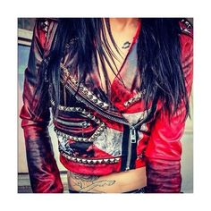 toxic vision Fashion Things ❤ liked on Polyvore featuring jackets and toxic vision