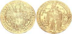 GERMANY, Quedlinburg (Abtei). Dorothea von Sachsen. Abbess, 1610-1617. AV 8 Ducats (28.73 g, 6h). Heinrich Löhr, mintmaster. Dated 1617.