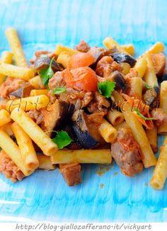 Pasta con salsiccia e melanzane ricetta veloce vickyart arte in cucina