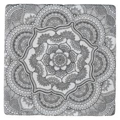 Shop Spring Lotus Stone Coaster created by HennabyHilary. Adult Coloring, Coloring Books, Colouring, White Throw Pillows, Sharpie Art, Stone Coasters, Custom Coasters, Marble Stones, Hostess Gifts