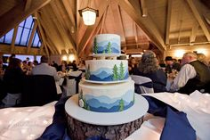Awesome mountain cake!