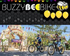 """Buzzy Bee Bike Fatbike E-bike on Instagram: """"Today is our 3rd anniversary. To make it a festive month, we will add FREE COFFEE AND CAKE to your tour if joined this month. So don't…"""" 🐝🚴♀️🚴🏼♂️#buzzybeebike #chiangmai #thailand #ebike #ebiking #fatbike #fatbiking #cyclingtour #cycletour#electricbicycle #thailandtravel #lovethailand #amazingthailand #thailandholiday #responsiblerecreation #responsibletravel #responsibletraveling #responsibletraveller #anniversary #anniversarycake #anniversaryg"""