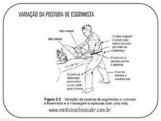 Postura de esgrimista com cotovelo flexionado