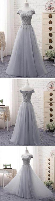 Lace Prom Dresses #LacePromDresses, Prom Dresses 2018 #PromDresses2018, Prom Dresses A-Line #PromDressesA-Line