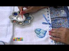 Programa Arte Brasil - 19/01/2015 - Filó Frigo - Pintura em Fralda com Estêncil - YouTube