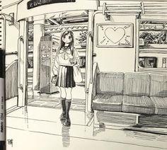 博(@siiteiebahiro) 님 | 트위터의 미디어 트윗 Manga Drawing, Manga Art, Drawing Sketches, Art Drawings, Perspective Drawing Lessons, Comic Book Layout, Japon Tokyo, Concept Art Tutorial, Background Drawing