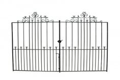 PAIR OF ANTIQUE WROUGHT IRON DRIVE GATES - UK Architectural Heritage
