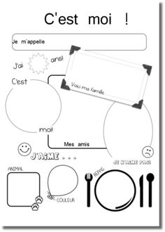 Risultati immagini per coloriage se presenter French Flashcards, French Worksheets, French Teaching Resources, Teaching French, French Class, French Lessons, French Greetings, French Numbers, September Activities