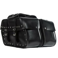 c2c45d6a1 (Advertisement eBay) Motorcycle Saddlebags PVC Studded Curved Edge Hard  Harley Bags Universal Fit