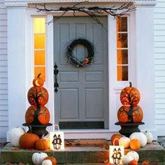 71 őszi dekorációs ötlet - Bejárati ajtó | PaGi Decoplage