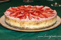 Vo-Vo's Famouse Strawberry Cheesecake #SundaySupper