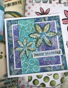 Blog Topics, Altered Art, Card Making, Happy Birthday, Stamp, Mini, Cards, Happy Brithday, Urari La Multi Ani