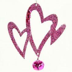 """5""""ACRYLIC STAR/HEART ORNAMENT"""