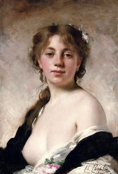 Charles Chaplin (1825 – 1891, French)  the-artists-muse