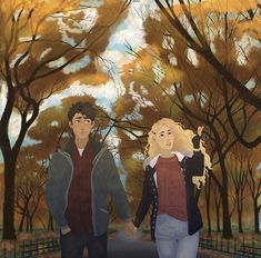 """estavs: """" Percabeth going for a romantic walk in Central Park. Annabeth probably talking, in depth, about architecture and Percy not taking in a word. Probably first time I've made a passable. Percy Jackson Annabeth Chase, Percy Jackson Fan Art, Percy And Annabeth, Percy Jackson Memes, Percy Jackson Books, Percy Jackson Fandom, Percabeth, Magnus Chase, Oncle Rick"""