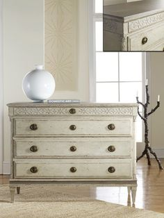 Modern History Large Gustavian Four Drawer Commode Ships Free