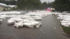From The Weather Channel  2 inch hail in Colorado Springs
