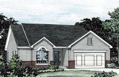 House Plan 68853 | Ranch    Plan with 1292 Sq. Ft., 3 Bedrooms, 3 Bathrooms, 2 Car Garage