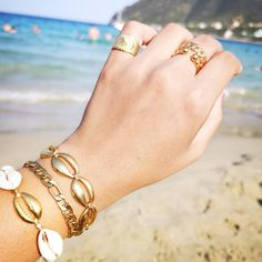 ☀️ꜱʜᴏᴘ ᴛʜᴇ ʟᴏᴏᴋ 🌴🥤 ▫️Dm for your orders!!! ▫️ #charmme_gr #goldplated #rings #handmadejewelry #summerbracelets #newrings #braceletesfashion… Bangles, Bracelets, Gold, Jewelry, Jewlery, Jewerly, Schmuck, Jewels, Jewelery