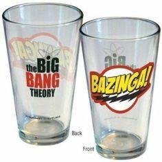 Big Bang Theory Bazinga Logo Pint Glass