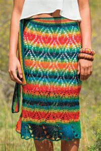 Crochet Me-Rainbow of color skirt