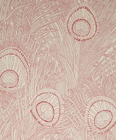 Hebe Wallpaper in Crimson | Nesfield collection by Liberty Art Fabrics - Interiors | Liberty.co.uk