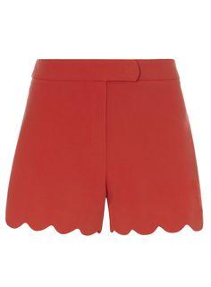 Dorothy Perkins Crepe Scallop Shorts, $29; dorothyperkins.com     - ELLE.com