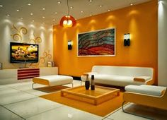 Jika Anda ingin ruang yang terasa nyaman dan tenang,tidak ada salahnya kita membahas mengenai desain ruang tamu dengan nuansa warna orange dan putih.