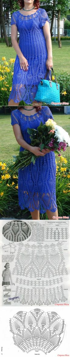 Crocheted dress tunic made to order crochet handmade lace unique flowers Crotchet Dress, Knit Dress, Blouse Dress, Freeform Crochet, Thread Crochet, Knit Crochet, Pineapple Crochet, Poncho Tops, Crochet Woman