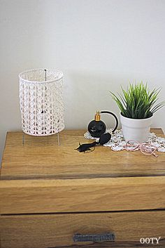 Crochet lighting cream crochet standing table lamp crochet by ooty